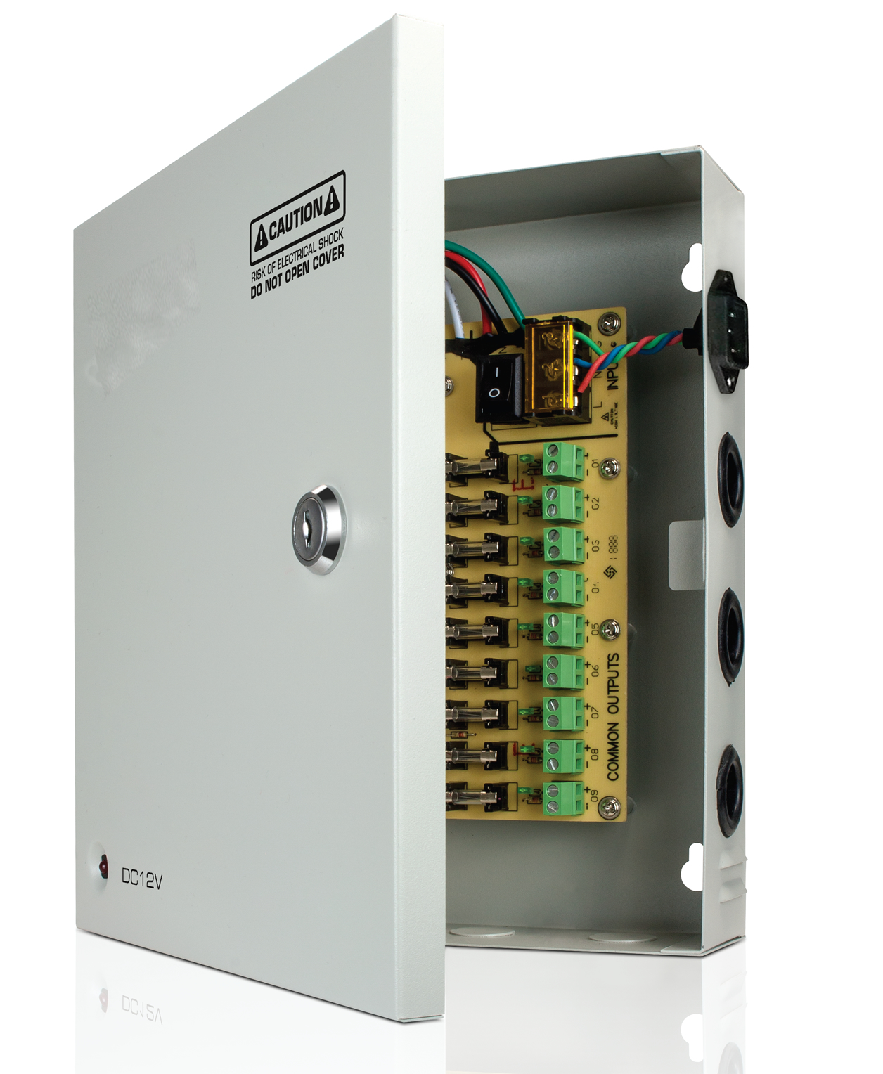 9 ports CCTV power Box