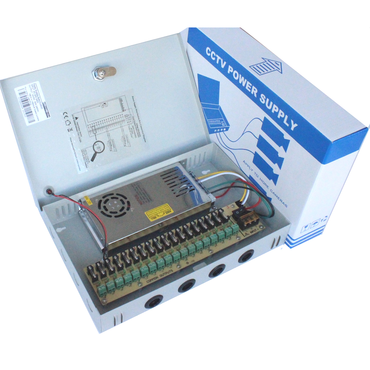 18ch 12V20A CCTV power box